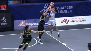Highlights: Philippines vs Malaysia | 3X3 Basketball W Prelim Round | 2019 SEA Games