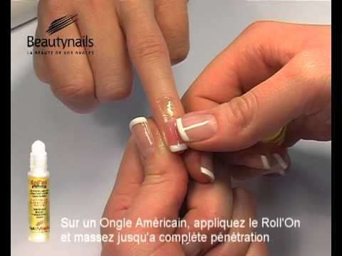 Application du Roll On sur ongle Américain