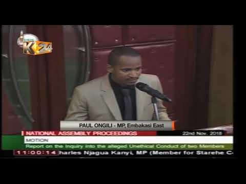 WE ARE SORRY: MPs Jaguar and Babu Owino forced to apologize in Parliament