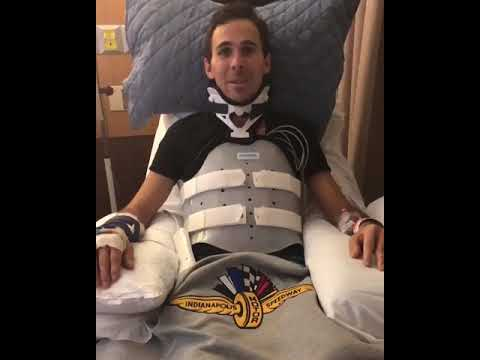 Robert Wickens sends wishes from hospital bed