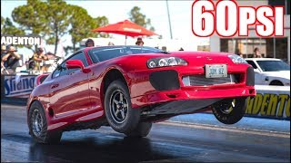 1550HP Supra Pulls GIANT Wheelie Running 60PSI of Boost! - Fastest Supra in Canada