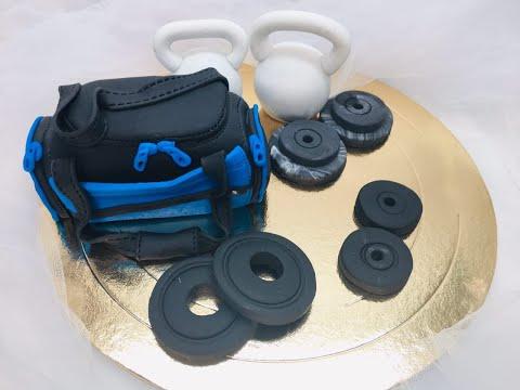 Как оформить торт на тему фитнеса