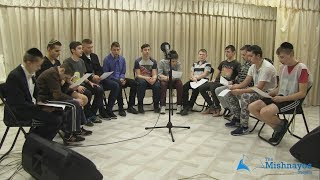 Students of the Beis Aharon School learning Mishnayos in a musical way! Meseches Brochos