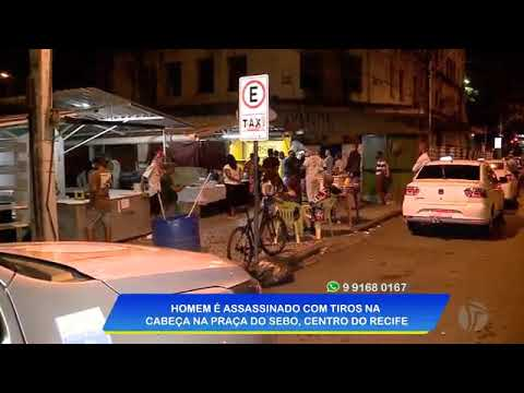 Homem é morto com vários tiros na Praça do Sebo, no Recife