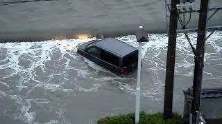 FloodsbyTyhoon台風18号田原市汐川洪水