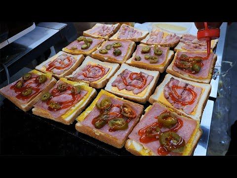 cheese bacon egg toast / korean street food