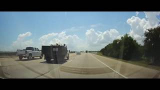 Driving on Interstate 10 from Chambers County, Texas to Houston