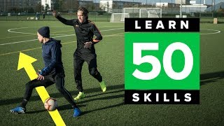 LEARN 50 MATCH SKILLS | Awesome football skills tutorial
