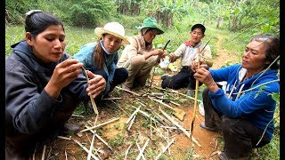 Đọt Mây Nướng cùng mấy chị Đồng Bào K'Ho - Hương vị đồng quê - Bến Tre - Miền Tây