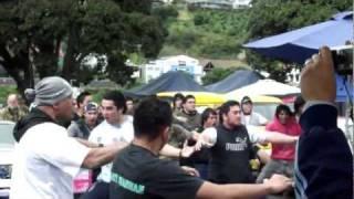 preview picture of video 'FlashMob Haka at the Wanganui Markets (Bad Angle)'