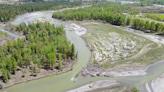 DJI Mavic Mini Drone Video, Elbow River Calgary, Alberta