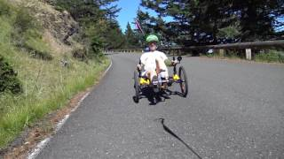 Mt Constitution Descent on a Catrike Recumbent Trike