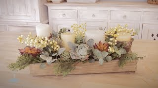 Christmas Floristry Tutorial   Candles, Succulents And A Rustic Box