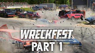 WRECKFEST Career Mode Gameplay Walkthrough Part 1 - DESTRUCTION DERBY (Xbox One)