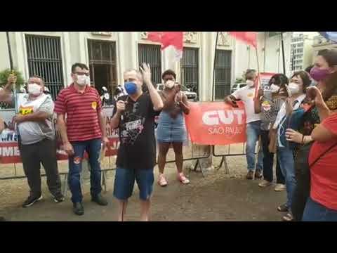 Joao Batista Gomes presente no ato do Dia Nacional de Luta contra a PEC 32
