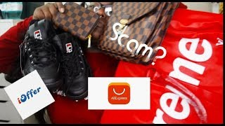 2cf1a9b7cfe6  14000 Louis Vuitton X Supreme Bag For  30 Ioffer   Aliexpress Replica Haul