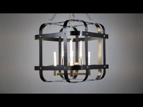 Video for Colchester Aged Old Bronze Four-Light Pendant