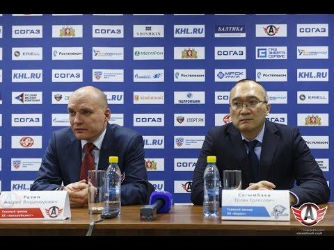 """""""Автомобилист"""" 2:1 (ОТ) """"Барыс"""": Пресс-конференция"""
