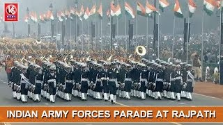 69th Republic Day Celebrations | Indian Army Forces Parade At Rajpath | New Delhi | V6 News