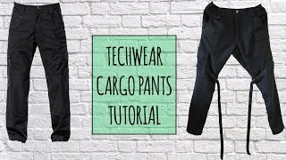 How to make Techwear Cargo Pants | Tutorial