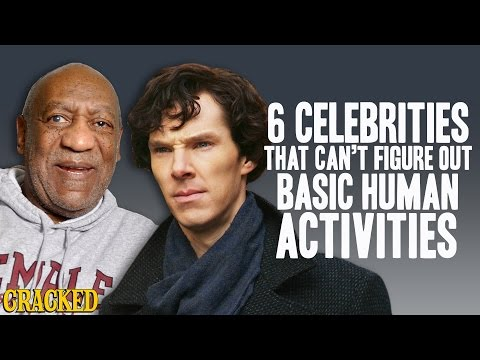 6 Celebrities That Can't Figure Out Basic Human Activities - The Spit Take