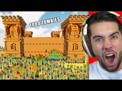 I Built The World's STRONGEST Zombie Defense In Minecraft (10,000 Zombies)