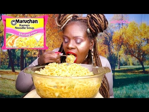 BIG BOWL NOODLES MUKBANG ASMR Eating Sounds | Soft Spoken
