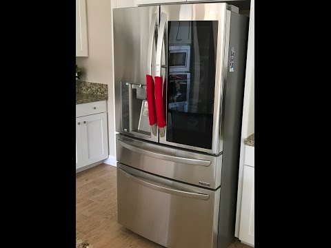 New LG Instaview French Door Door In Door Refrigerator Unboxing LMXS30796S