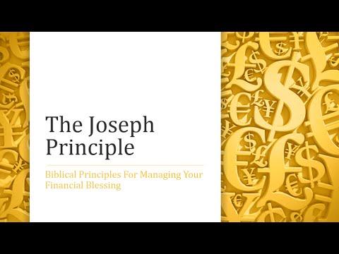 The Joseph Principle: Ancient Biblical Wisdom For Modern Financial Success