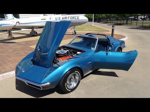 1972 Chevy Corvette 454 LS5 American Muscle Car USA Big Block Vette 4-speed C3 Stingray Sports Car Mp3