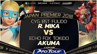 CYG BST Fuudo (R. Mika) vs Echo Fox Tokido (Akuma) - Japan Premier Grand Finals - CPT 2018