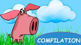 Piglet Cartoon for Children - Full Episodes 1 to 7 - Funny Animated Kids Series   HD English