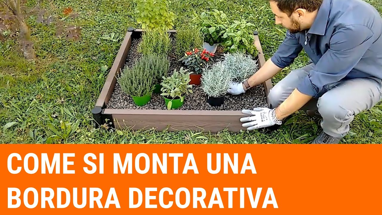 Come posare la bordura Flower Bed su terreno e su pavimento