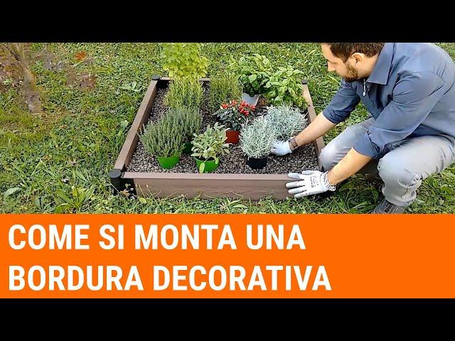 Come posare la bordura Flower Bed su terreno e su pavimento