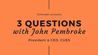 3 questions with CUES' John Pembroke