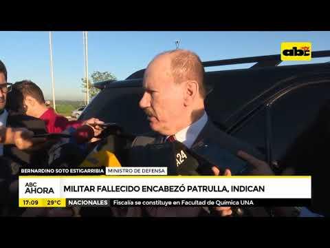 Militar fallecido encabezó patrulla, indican