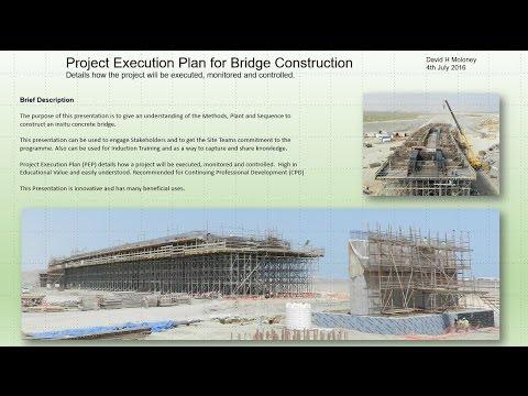 , title : 'Bridge Construction, Project Execution Plan