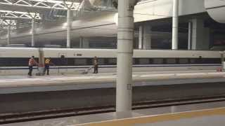 preview picture of video 'Aruna & Hari Sharma with Feng on Shijiazhuang Railway Station Track,China Sep 10, 2013'