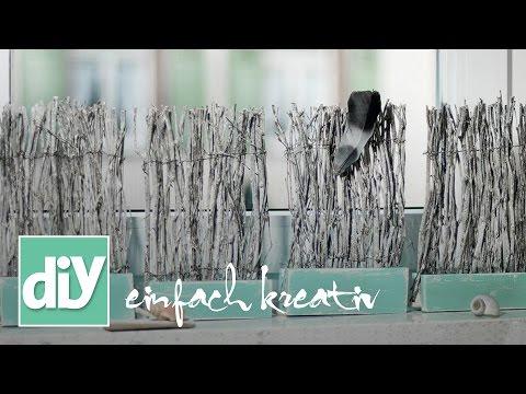 Mini-Paravent fürs Fensterbrett | DIY einfach kreativ
