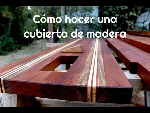 Cómo hacer una cubierta de madera