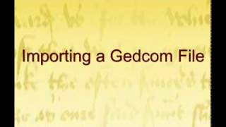 Importing a Gedcom File into GenoPro