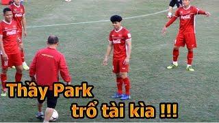 DKP đi xem HLV Park Hang Seo , Công Phượng , Quang Hải ĐT Việt Nam tập AFF Cup 2018 đấu Lào