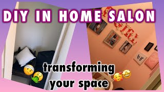 MY DIY IN HOME SALON!! ON A BUDGET