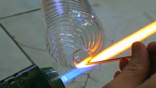 Making Murano Glass Drinking Glass With Lampworking Technique In Venice, Italy