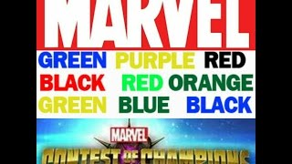 This is how to Color Text Marvel contest of champions
