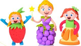 PRINCESSES WEAR FUNNY FRUIT DRESSES ❤ SUPERHERO BABIES PLAY DOH CARTOONS FOR KIDS