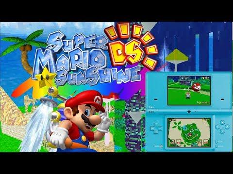 Super Mario Sunshine DS! Delfino Plaza Tour! - смотреть