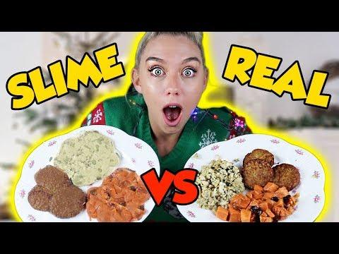MAKING FOOD OUT OF SLIME! SLIME VS FOOD! SUPER SATISFYING