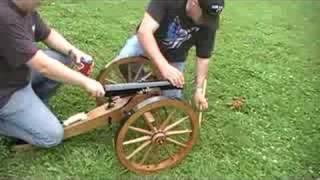 Civil War replica Cannon vs. 5 gallon bucket of water.