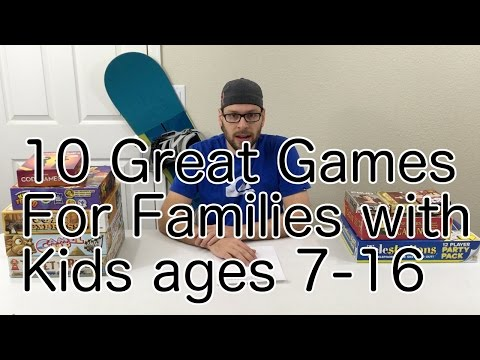 10 Modern Board Games for Families with kids ages 7-16